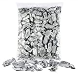 Silver Foils Chewy Taffy Candy, 1-Pound Bag of Silver Color Themed Kosher Candies Individually Wrapped Pineapple Fruit-Flavored Taffies (NET WT 454g, About 96 Pieces)