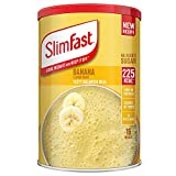 SlimFast Batido de comida, sabor a plátano, nueva receta, 16 porciones, perder peso y mantenerla apagada, el embalaje puede variar