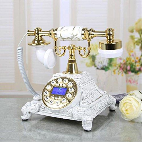 NYDZDM Estilo Europeo, Sala de Estar, teléfono, hogar, Dormitorio, Creativo Retro, teléfono Fijo (Color : C)