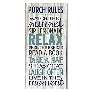 MRC Wood Products Porch Rules Rustic Wood Wall Sign 9x18