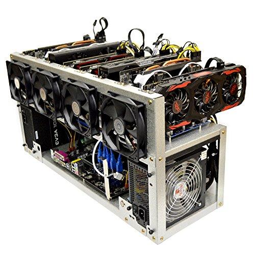 Titan-8 Open Air GPU Mining Rig Frame Computer Case Chassis - Ethereum ETH Zcash ZEC Monero XMR