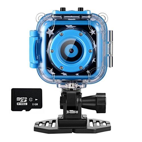 Ourlife Kids Action Cam, Action Camera per bambini con videoregistratore include scheda di memoria da 8 GB