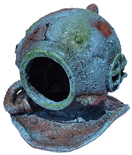 Supa Taucherhelm für Aquarien, realistisches Detail, ca. 14 cm (L) x 13,5 cm (B) x 13 cm (H).