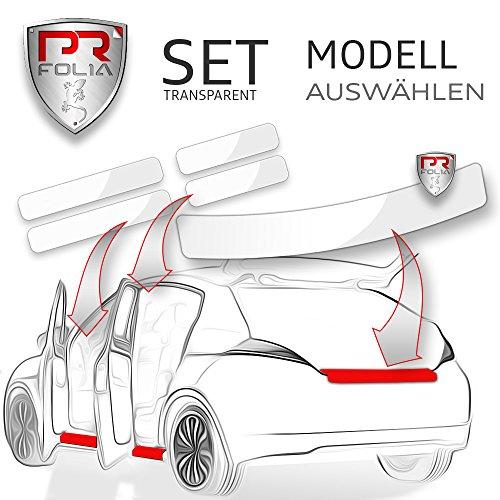 PR-Folia SET passend für - Octavia III / 3 Combi (Kombi Typ 5E ab 2013-02/2017) Ladekantenschutz + Einstiegsleisten in TRANSPARENT, Lack-Schutz-Folie