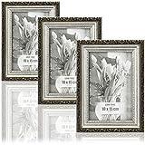 com-four® 3X Bilderrahmen 10 x 15 cm Antik für die schönsten Fotos - Stilvoller Fotorahmen - Rahmen für Lieblingsbilder & Schnappschüsse - tolle Geschenkidee