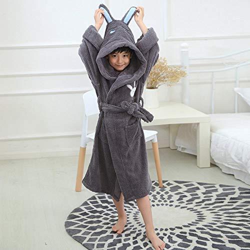 KTUCN Winter-Bademantel für Kinder, Nachthemd aus Baumwolle mit Kapuze für Kinder,...