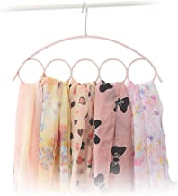 High quality 5 hole scarf hangers plastic ring s neck tie and belt receive a case link display racks (Color : Beige)