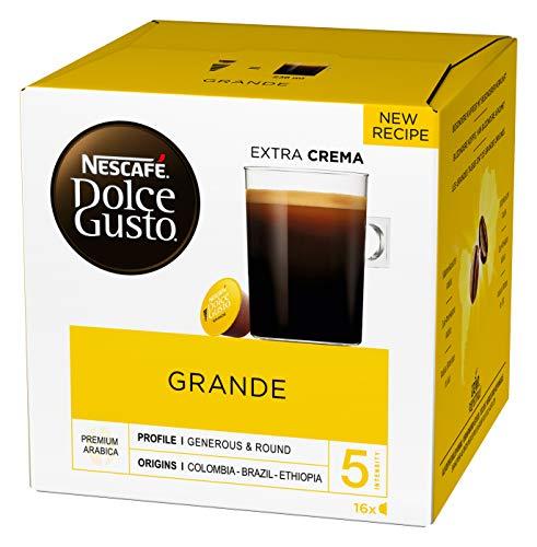 NESCAFÉ Dolce Gusto Grande Kaffee (100% Arabica Bohnen, Feine Crema), 16 Kapseln