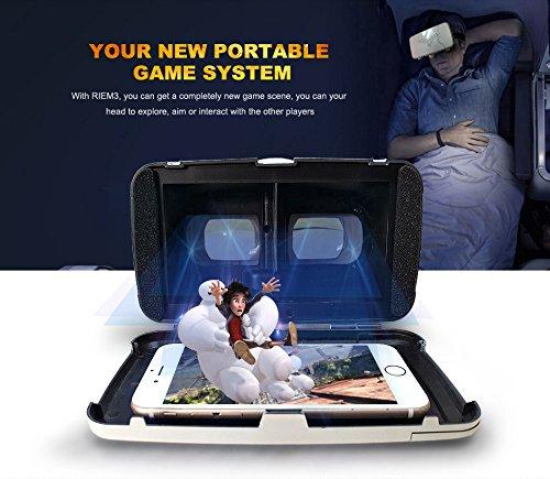 『KAWOE 3DVRゴーグル 3DVRメガネ 仮想現実体験 超3D映像効果 焦点/瞳孔距離調節可能 映画ゲーム用 ホワイト』の4枚目の画像