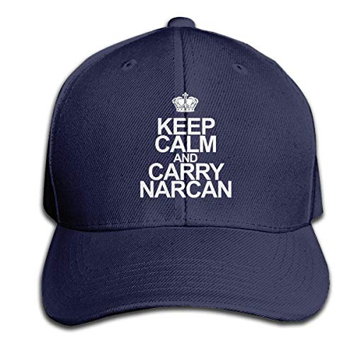 sand Keep Calm and Carry Narcan Men's Casquette Hat...