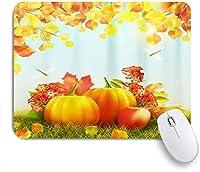 TARTINY ゲーミング マウスパッド,幸せな感謝祭の日秋のカボチャの収穫カエデの葉フェスティバル秋,マウスパッド レーザー&光学マウス対応 マウスパッド おしゃれ ゲームおよびオフィス用 滑り止め 防水 PC ラップトップ