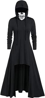 Fashion Women's Hooded Skirt Pullover Long Sleeve High Bandage Dress Cloak Dress