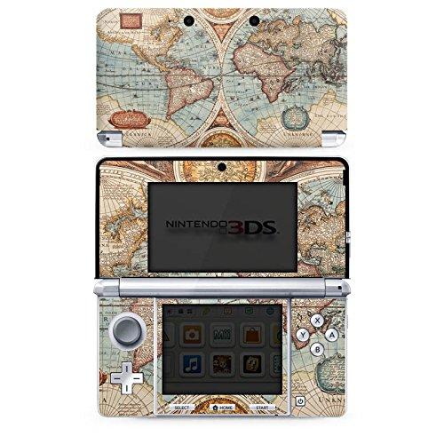 DeinDesign Skin kompatibel mit Nintendo 3 DS Folie Sticker Erde Weltkarte Wanderlust