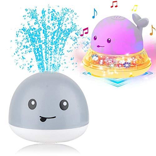 Juguete de baño para bebés, Juguete de agua de rociado de inducción 2 en 1 - LED + Música - juguete rociador de agua rociadores automáticos Baño Baño Juego de bañera Juguetes para niños pequeños