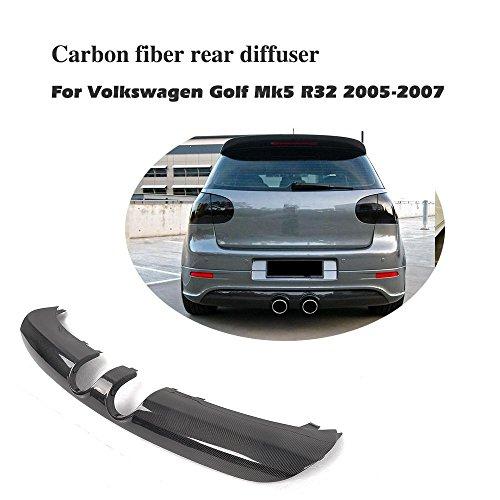 JCSPORTLINE Echt Carbon Tuning Heckdiffusor hinten Lip Diffusor für Golf 5 V Mk5 R32 2001-2008