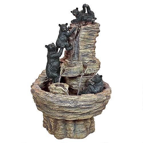 27' Black Bear Rocky Mountain Indoor/Outdoor Water Fountain