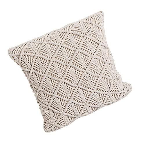 1 Stück Dekorative Kissenbezug, Throw Pillow Cover Makramee Kissenbezug, Boho Super Weich Kissenbezüge Quaste Decor Kissenhülle, für Sofa Couch Schlafzimmer Wohnzimmer