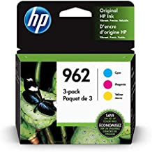 HP 962 | 3 Ink Cartridges | Cyan, Magenta, Yellow | 3HZ96AN, 3HZ97AN, 3HZ98AN, Black