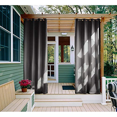 DLMSDG Outdoor Awnings, Black Outdoor Blinds, Blackout Curtains for Outdoor, Waterproof Fabrics, Super Soft Gazebo Tent with Loops, Balcony Garden Pools (4x2.7m (157x106inch))