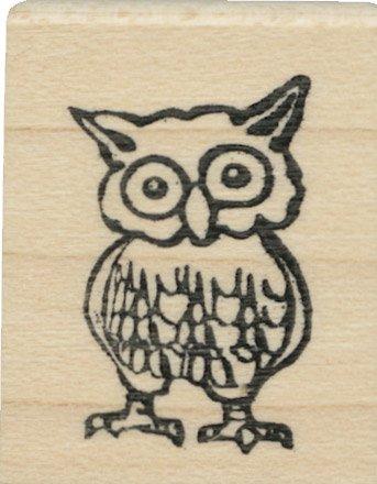 Tampon en caoutchouc - Tiny Owl - Cats Life Press 775 B
