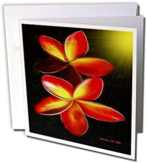 3dRose Plumeria - Greeting Cards, 6 x 6 inches, set of 12 (gc_9142_2)