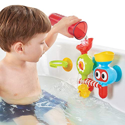 Yookidoo Baby Bath Toy - Spin 'N' Sprinkle Water Lab - Spinning Gear and Googly Eyes for Toddler or Baby Bath Time Sensory Development - Attaches to Any Size Tub Wall (1-3 Years)