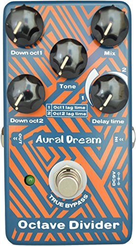 Aural Dream Octave Divider Digital Guitar Effects Pedal with drop 1oct and 2oct Including adjustable time difference True BypassMEHRWEG