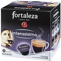 Café FORTALEZA - Cápsulas de Café Intenssísimo Compatibles con Dolce Gusto - Pack 3 x 12 - Total 36 cápsulas