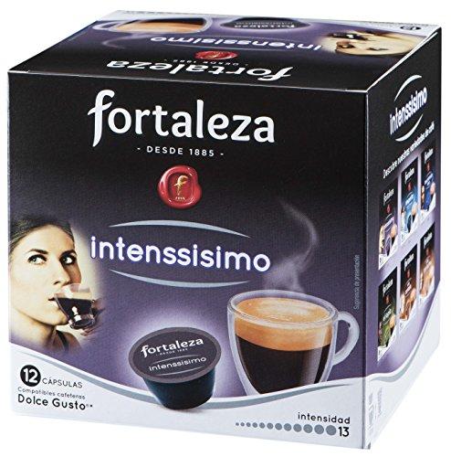 Café Fortaleza – Cápsulas Compatibles con Dolce Gusto, Sabor Intenssisimo, Especial Café Espresso Fuerte e Intenso, 100% Arábica, Pack 10x3 - Total 30 uds