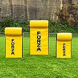 FORZA Boucliers de Percussion pour Rugby/Foot Américain | Sac de Plaquage pour Entraînements (Variété de Tailles) (Bouclier avec Rembourrage Supérieure, Junior)