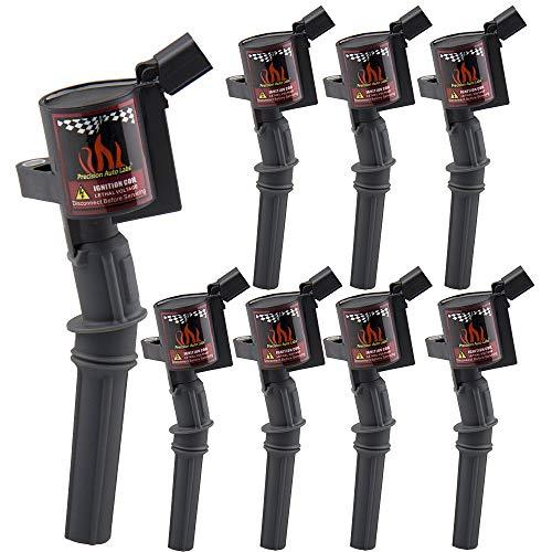 Set of 8 Ignition Coil Pack for Ford F150 F250 Explorer Lincoln Mercury 4.6L 5.4L V8 V10, Upgraded Coil Pack Compatible with DG508 DG457 DG472, Black