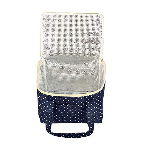 Bolso de almuerzo portátil, bolsa de almuerzo aislada reutilizable Refrigerador de bolsas de bolso de asas Comida Preparación de comida para estudiantes Hombres Mujeres Trabaje picnic o caja de viaje