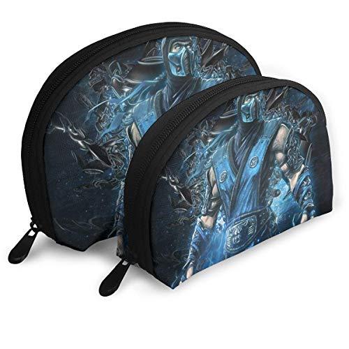 Sub-Zero Makeup Bag Shell Shape Portable Clutch Pouch Coin Purse for Women Travel Waterproof Zip Storage Bags 2pcs