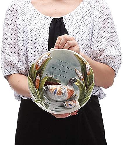 punto de venta Sijkall Placa de cerámica Placa Decorativa para Colgar Placa Placa Placa de cerámica Placa Creativa Fondo de Parojo Placa de Porcelana Decorativa Coleccionables Placa de cerámica de Recuerdo  Tienda 2018