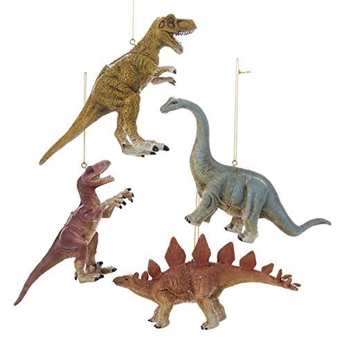 Kurt Adler Dinosaur Ornament Set OF 4
