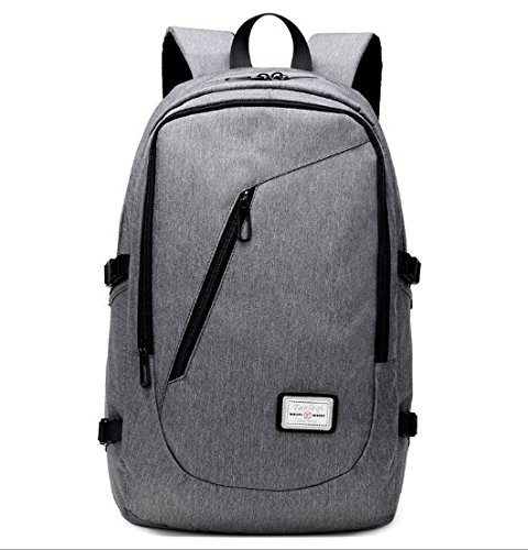 Ddmy Business laptop zaino/borsa da viaggio scuola università, ecofriendly impermeabile Bookbag per le donne/uomini, adatto 39,6 cm portatile/tablet da Yorepek (grigio)