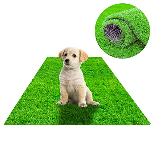 STARROAD-TIM Artificial Grass Rug Turf for Dogs Indoor Outdoor Fake Grass for Dogs Potty Training Area Patio Lawn Decoration(39.3 x 31.5 inches)