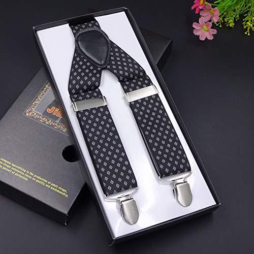 SUPOOGO 3 Clip mannen elastische riem 3.5Cm breedte verlengde versie 130Cm lengte hoge vet mensen speciale riem Clip