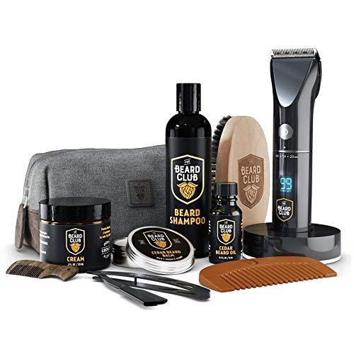 The Beard Club | PT45 Trimmer Premium Beard Care Grooming Gift Gift Kit | Cordless Beard Trimmer, Beard Oil, Beard Cream, Straight Edge Razor, Beard Shampoo, Beard Brush, Beard Comb