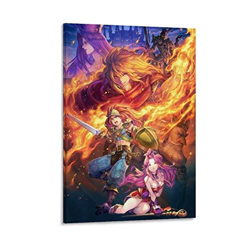 BCYD Seiken Densetsu - Poster decorativo con 3 giochi, 40 x 60 cm