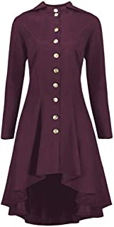 Fashion Steampunk Lace Up Hooded Trench Coat Jacket Blazer Tops Outwear Women
