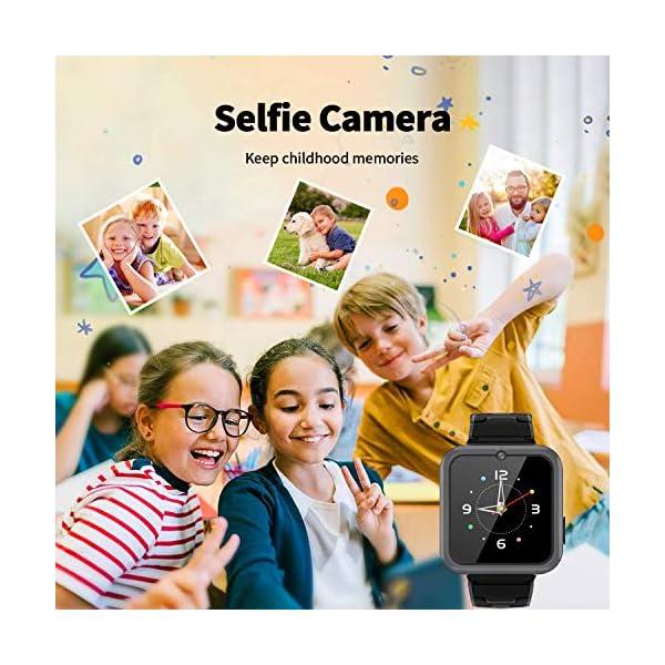 Smooce Smartwatch para Niños, Reloj Inteligente Niños Teléfono con 1.54 Pulgadas Pantalla Táctil, MP3 Música,Llamada SOS… 7