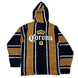 Primitive x Corona Men's Cerveza Long Sleeve Baja Pullover Hoodie Navy Blue/Yellow M