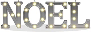 Decorative Illuminated Marquee Noel Word Sign (Silver Color 4.21