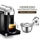 mewmewcat Cápsulas de café de Acero Inoxidable Vertuoline Pod Filters Cup 230ml Volumen de preparación Cápsula de café Cofre Set para Nespresso Vertuoline GCA1 Delonghi ENV135