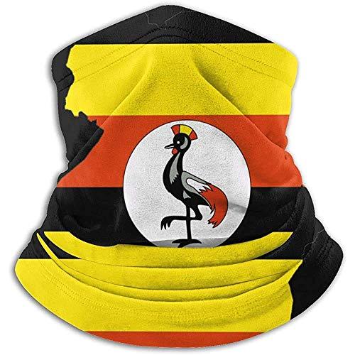 Yuanmeiju Bandera de Uganda Mapa Calentador de cuello Polaina Máscara de esquí Máscara facial para clima frío Sombreros de invierno Sombreros