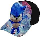 Sombrero Tapa Tapa 3D Printed Son-IC Baseball Hat Hip Hop Dancing Snapback Hat Adjustable Structured Breathable Eyelets Fits Men Women Black