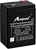Amptek 6V 4.5Ah Rechargeable Sealed Lead Acid Battery