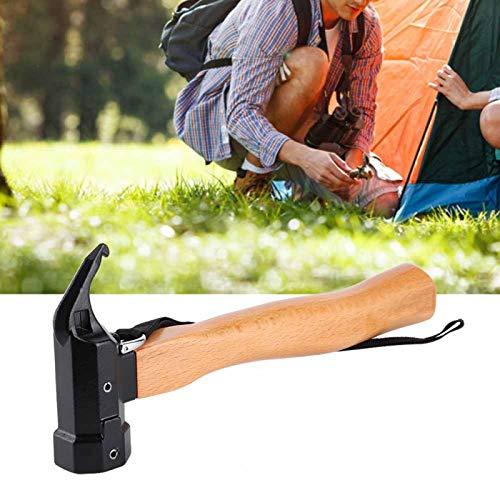Martelo, martelo de aço carbono, martelo de reparo, caminhada para toldos, barracas de acampamento, panos de chuva