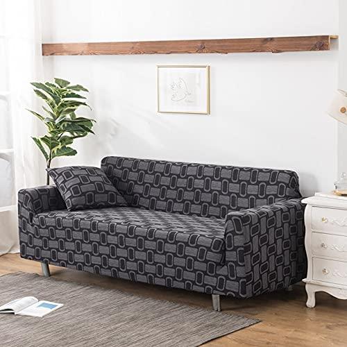 Funda de sofá elástica elástica Funda de sofá de Sala de Estar extraíble y Lavable Funda de sofá en Forma de L a Prueba de Polvo Completa A11 2 plazas